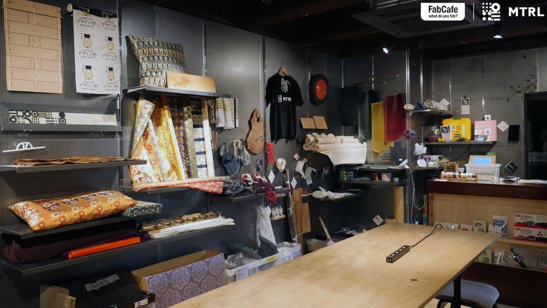 素材の展示棚